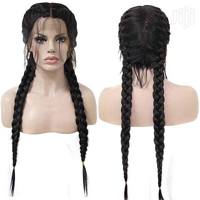 Heat Resistant Fiber Box Braid Wig Glueless
