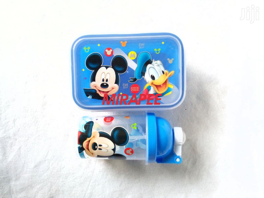 Characters Lunch Box Food Plate And Water Bottle