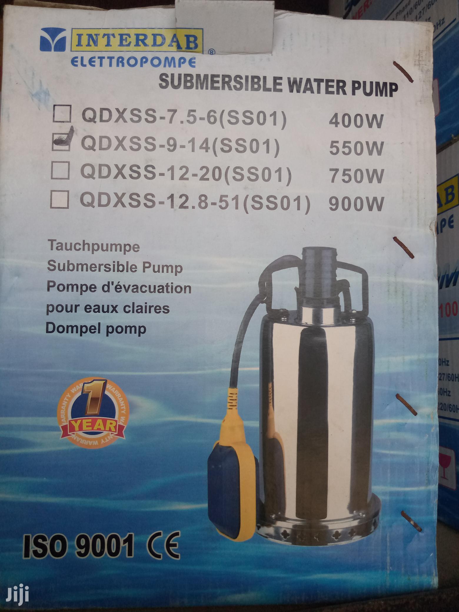 Interdab Garden Submersible Pump (0.55kw) (0.75hp) | Plumbing & Water Supply for sale in Orile, Lagos State, Nigeria