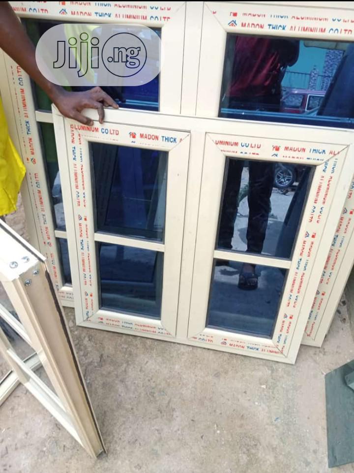 Top Quality Aluminium Casement Windows With Burglary and Net   Windows for sale in Ewekoro, Ogun State, Nigeria