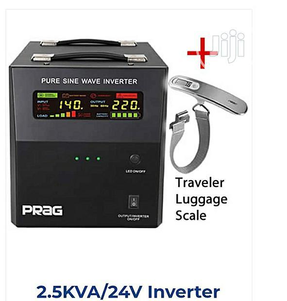 Prags 2.5KVA 24V Pure Sine Wave Inverter + AC/DC Cables