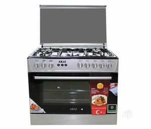 Brand New AKAI Standing Gas Cooker 5 Borner All Gas Oven | Kitchen Appliances for sale in Lagos State, Ojo