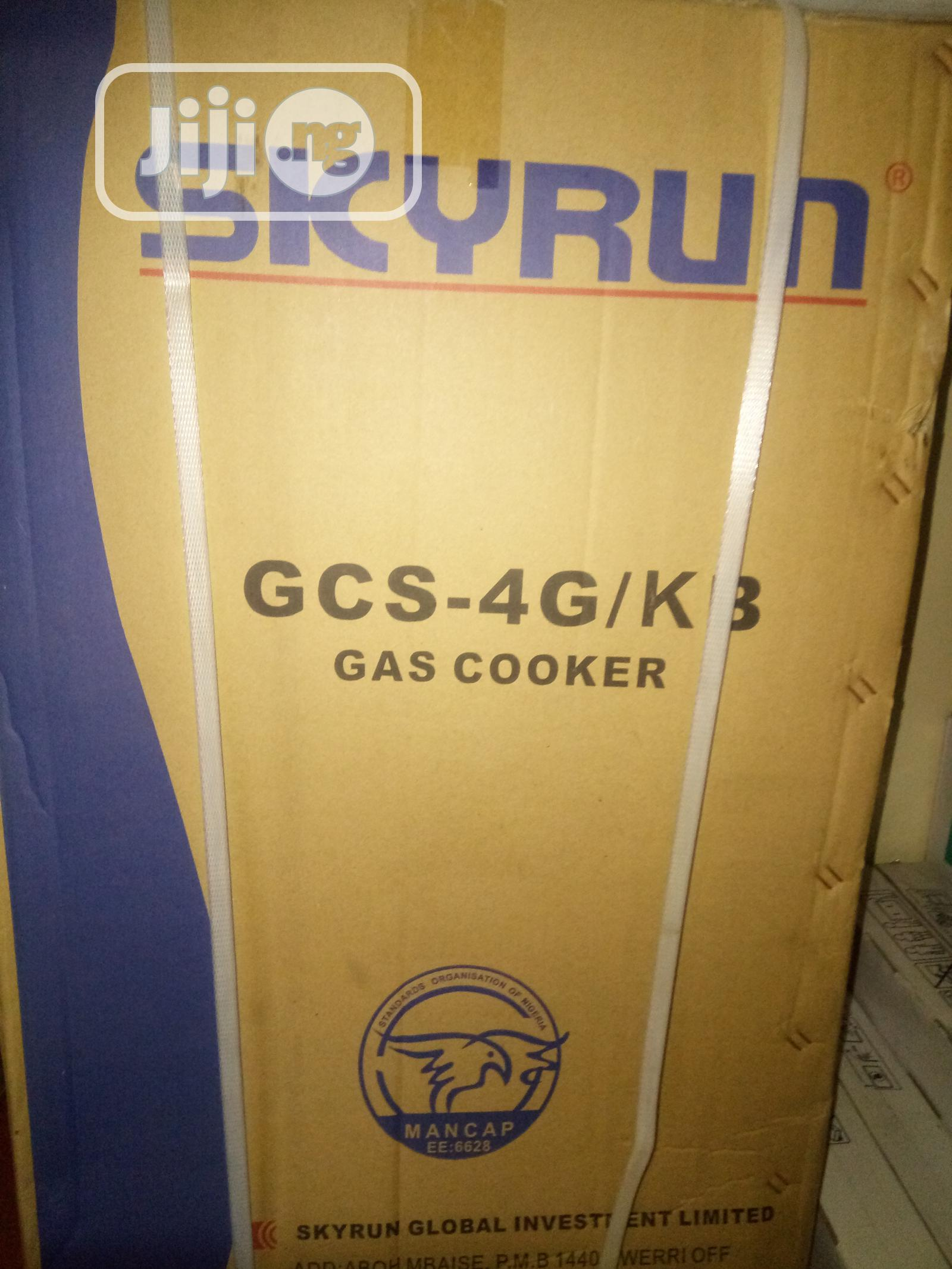 Skyrun Gas Cooker-Gcs-4g/Kb | Kitchen Appliances for sale in Central Business Dis, Abuja (FCT) State, Nigeria