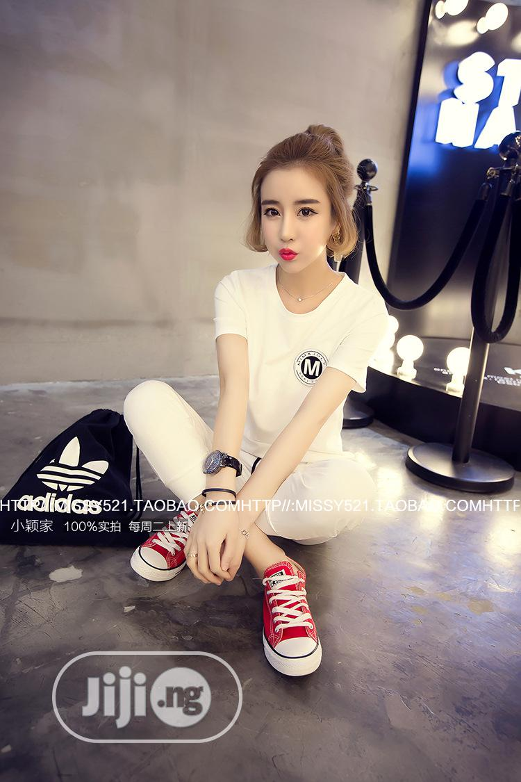 Spring and Summer New Casual Sports Suit Female Short-Sleeve