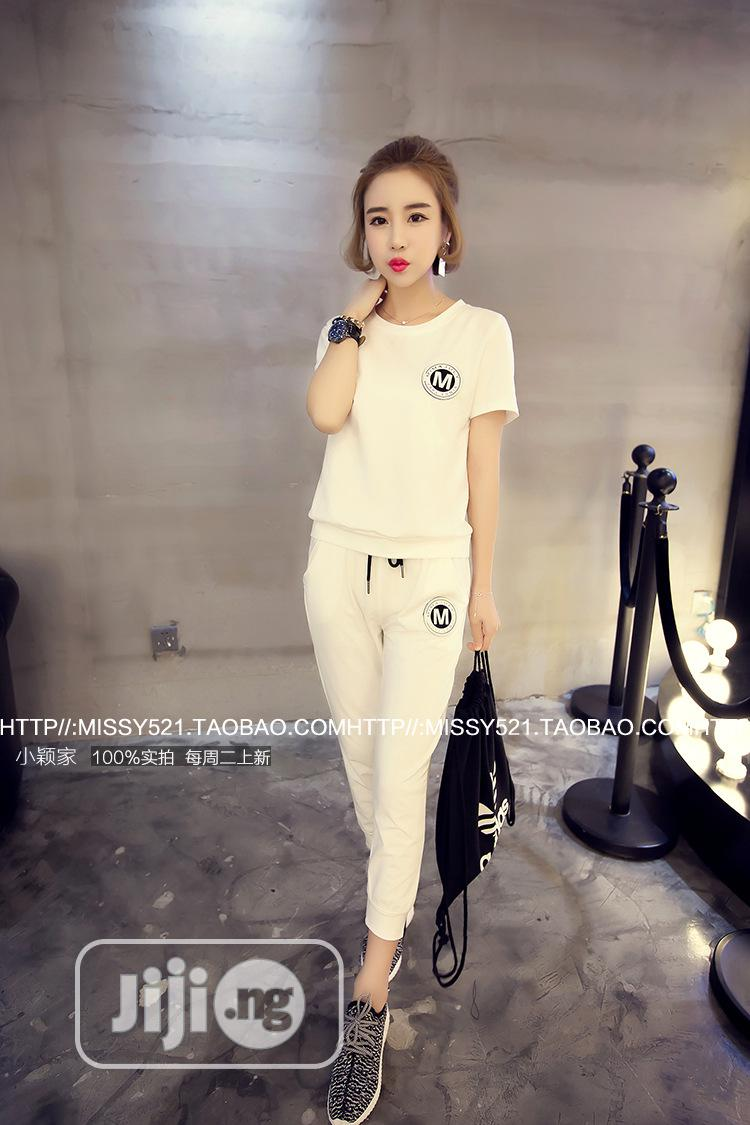 Spring and Summer New Casual Sports Suit Female Short-Sleeve | Clothing for sale in Ipaja, Lagos State, Nigeria