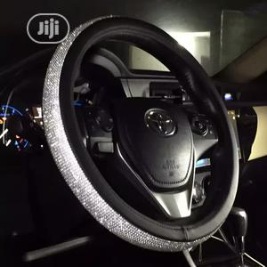 Unversial Diamond Entrusted PU Leather Steering Cover.   Vehicle Parts & Accessories for sale in Imo State, Owerri