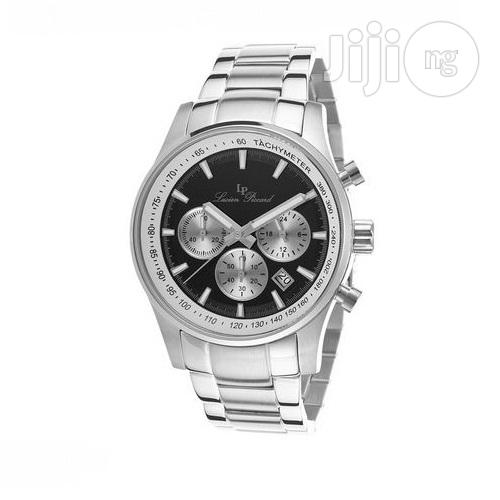 Lucien Piccard Camelot Stainless Steel Black Dial