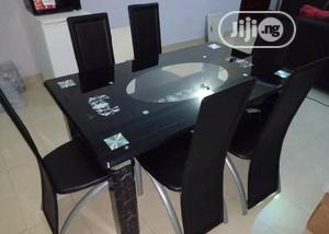 Quality Strong Six Seater Tinted Glass Dining Table | Furniture for sale in Abuja (FCT) State, Asokoro