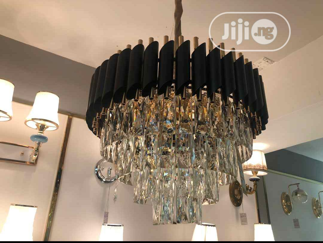 Gold And Black Crystal Chandler Can Be Used In Sitting Room, Church,