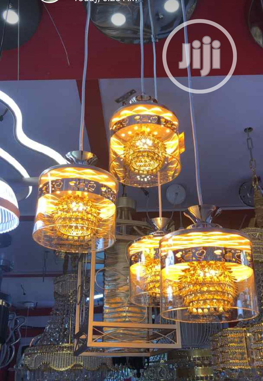 3 In One Gold Led Pendant Light