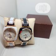 Guess Couple Exotic Wrist Watch - White and Black | Watches for sale in Lagos State, Ojodu