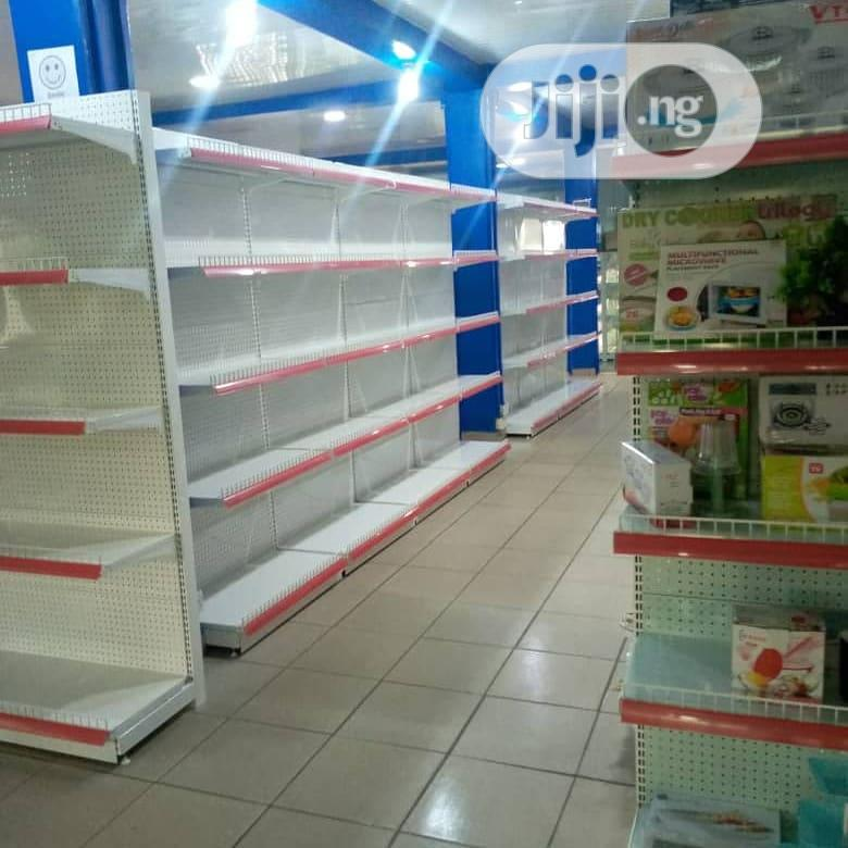 Single Sided & Double Side Peforated Supermarket High Quality Shelving | Store Equipment for sale in Lagos Island (Eko), Lagos State, Nigeria