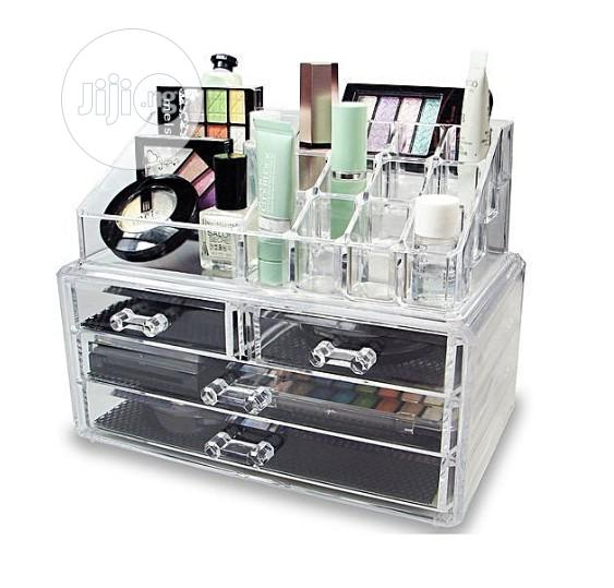 Archive: 4 Drawer Transparent Acrylic Makeup Bag Cosmetic Organizer Storage Box
