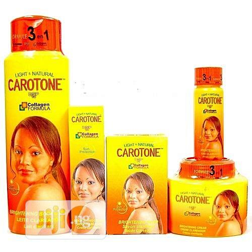 Carotone Light And Natural Brightening Lotion Cream Tube Oil Soap SET