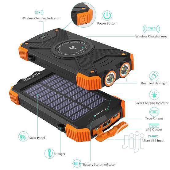 BLAVOR Solar Charger Power Bank 20000mah