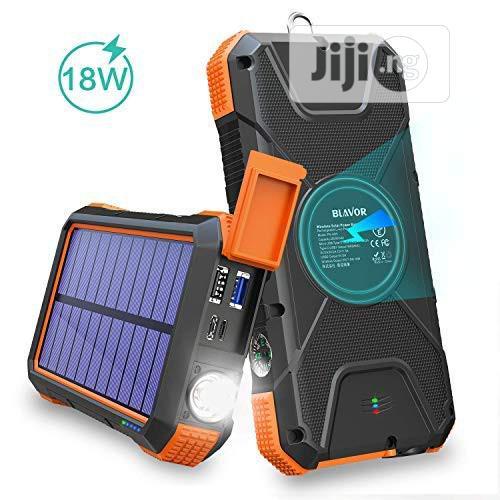 BLAVOR Solar Charger Power Bank 20000mah | Solar Energy for sale in Ikeja, Lagos State, Nigeria