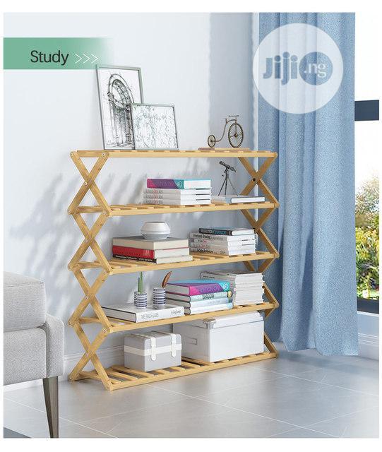 Quality Finishings Foldable Multipurpose Wooden Shoe Rack