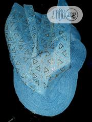 Light Blue Beaded Auto Gele | Clothing Accessories for sale in Imo State, Owerri