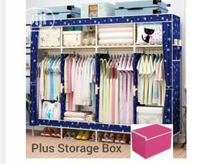 Four Column Wooden Wardrobe Plus Storage Box   Furniture for sale in Lagos State, Oshodi