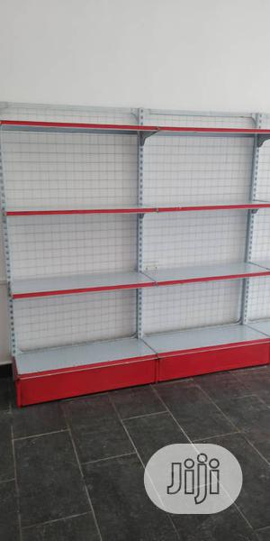 Single Sided Supeemarket Display Red & White Colour Shelves   Store Equipment for sale in Lagos State