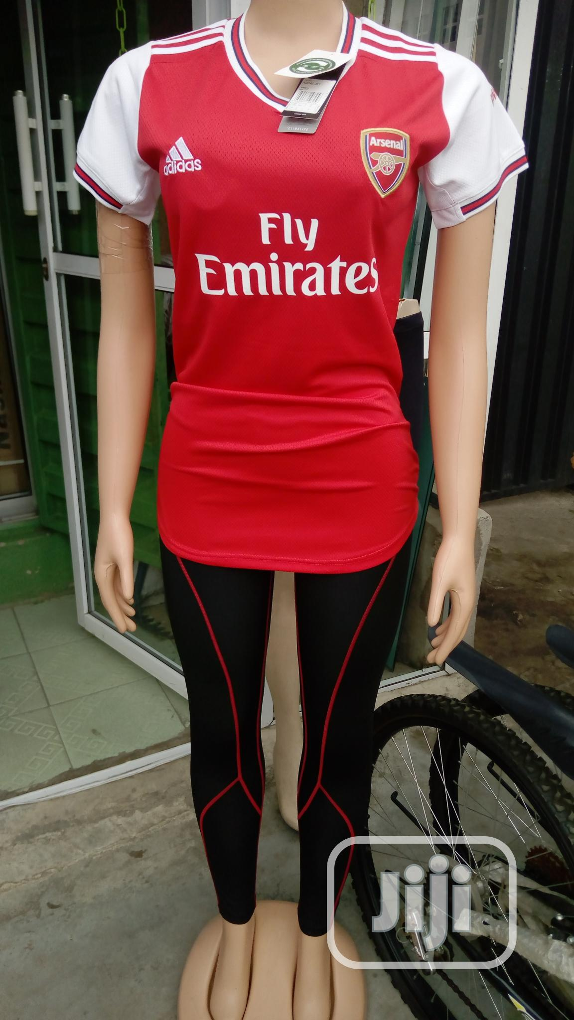 Archive: Female Arsenal Jersey With Leggings Tight