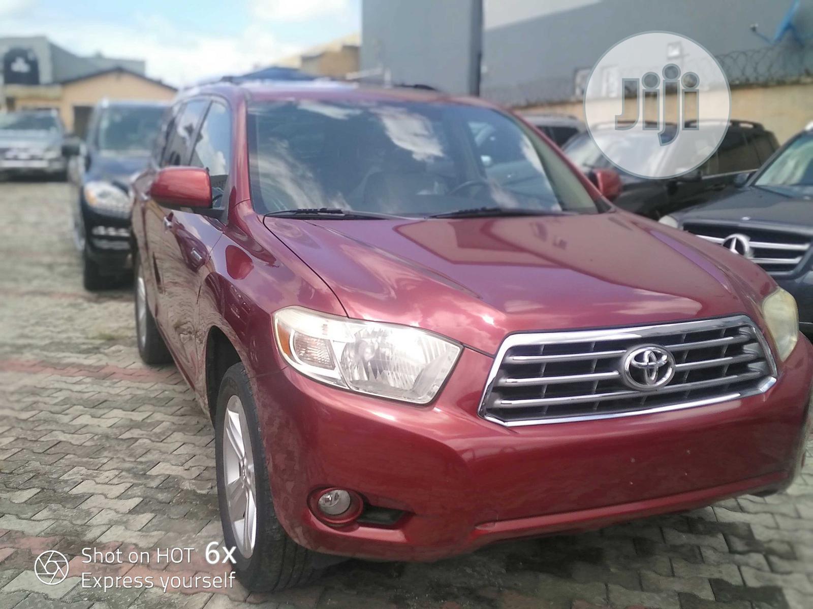 Toyota Highlander 2010 Limited Red