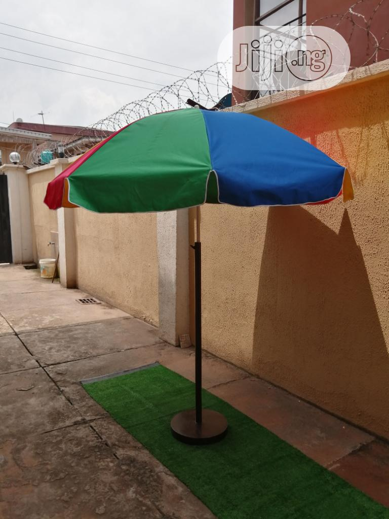 Branded Parasol With Modern Stand