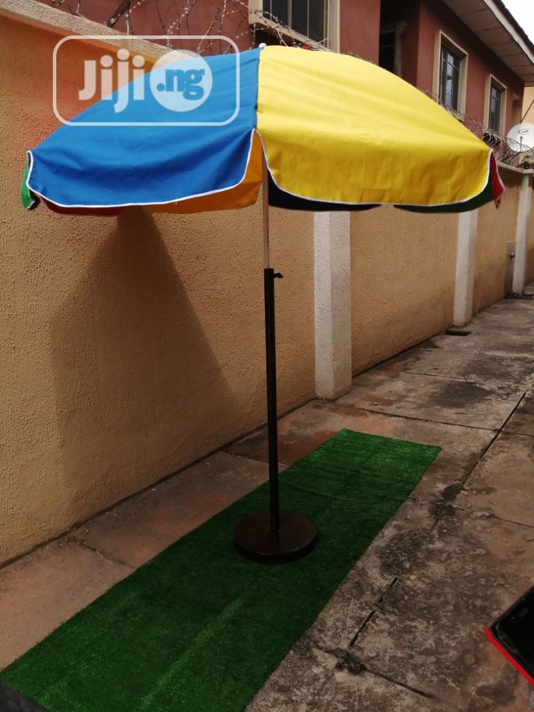 Quality Branded Parasol With Modern Stand