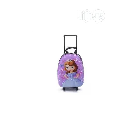 Sofia Hard Shell Kids Toddler Trolley School Bag Backpack --15inches