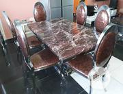 Marble Dining Table With 6 Pics Chair | Furniture for sale in Lagos State, Victoria Island