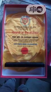 Acrylic Award With Printing   Arts & Crafts for sale in Lagos State, Ikeja
