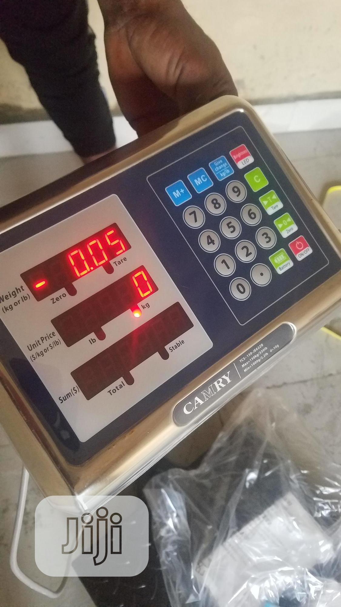 300 Kg Camry Digital Scale (100%Chaker Plate) | Store Equipment for sale in Jabi, Abuja (FCT) State, Nigeria