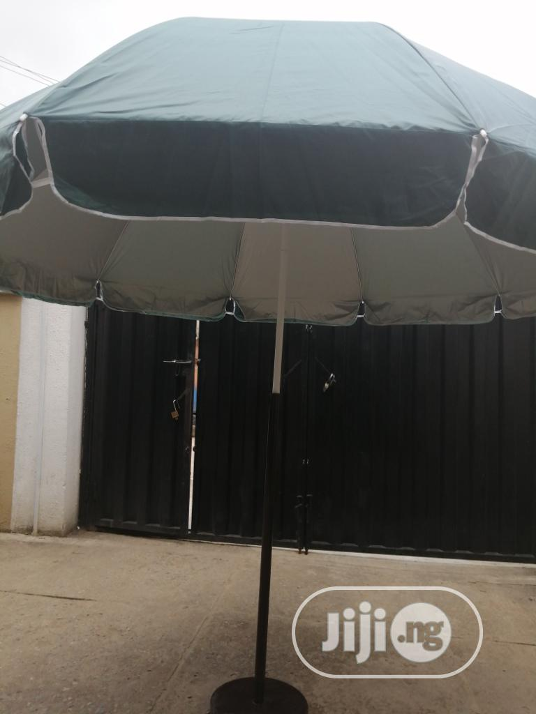 Modern Stand With Customized Branded Parasol Umbrella