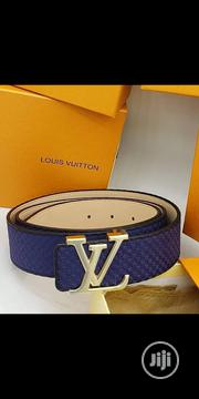 Original Louis Vuitton Synthetic Leather Belt Blue   Clothing Accessories for sale in Lagos State, Surulere