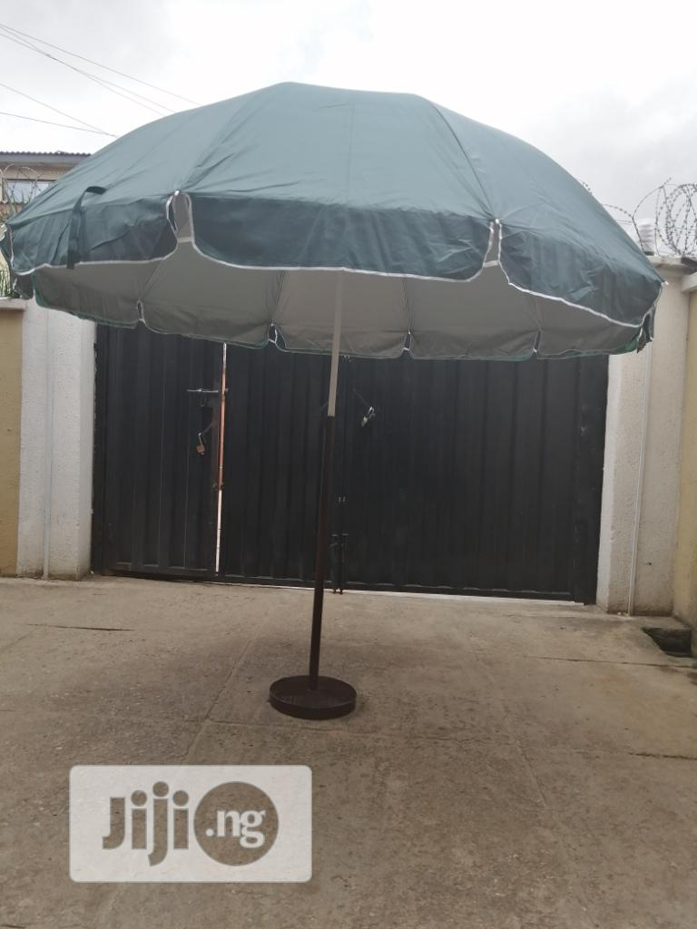 Blue Branded Parasol With Strong Stand