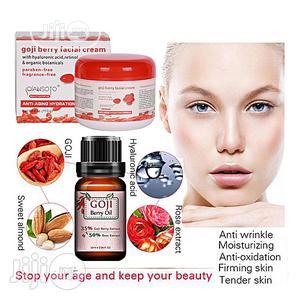 Facial Cream Anti-aging, Anti-wrinkle + Goji Berry Wonder Facial Oil   Skin Care for sale in Lagos State, Amuwo-Odofin