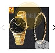 Geneva 2-In-1 Trendy Female Watch With Studded Bracelet - Gold | Watches for sale in Lagos State, Amuwo-Odofin