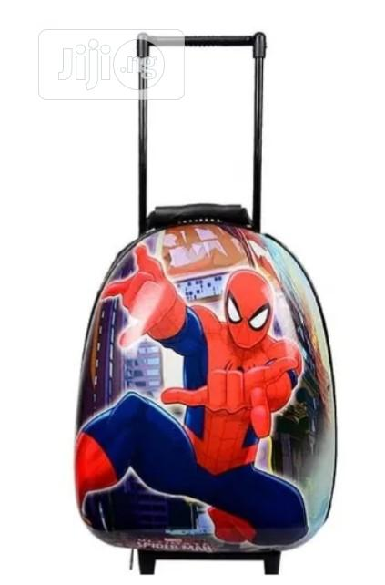 Spiderman Hard Shell Kid Trolley School Bag Backpack 15inches 2-6years