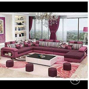 Exclusive 10 Seaters Sofas Chair ( Center Table and 4 Stool ) | Furniture for sale in Lagos State, Agboyi/Ketu