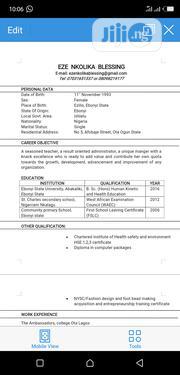 Teaching CV | Teaching CVs for sale in Ebonyi State, Ishielu