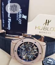 Hublot Geneve Black Leather Wristwatch | Watches for sale in Lagos State, Surulere