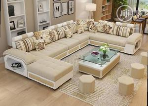 Modern U-Shaped Sectional Sofa Chairs - Fabric Couches With Table | Furniture for sale in Lagos State