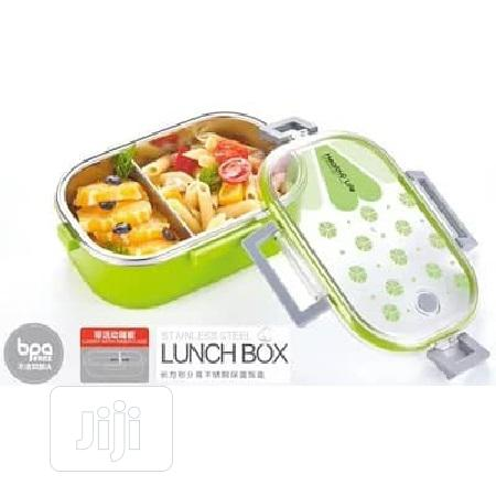 Lunch Box Stainless Steel 2 In 1 | Kitchen & Dining for sale in Ikeja, Lagos State, Nigeria