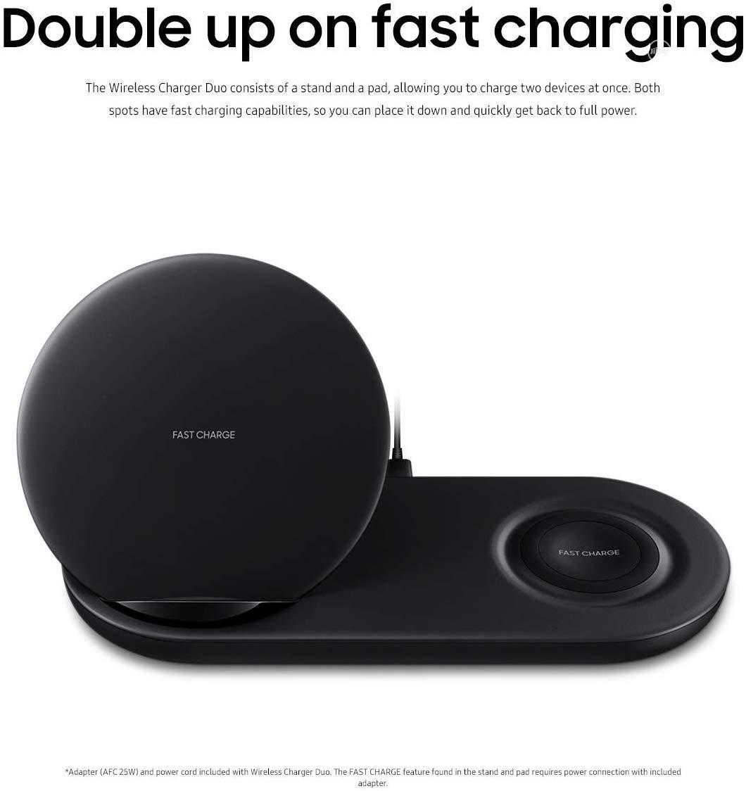 Samsung Wireless Charger Duo Fast Charge | Accessories for Mobile Phones & Tablets for sale in Ikeja, Lagos State, Nigeria
