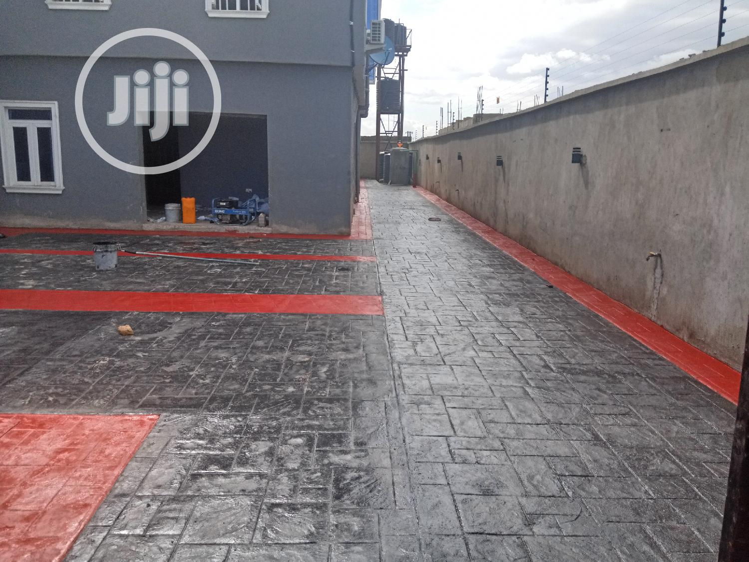 Stamped Concrete Floor   Building & Trades Services for sale in Agege, Lagos State, Nigeria