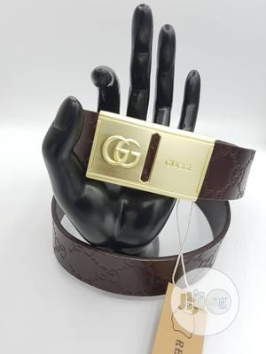 Gucci Leather Belts Men Corporate Belt Available as Seen Order | Clothing Accessories for sale in Lagos State, Lagos Island (Eko)