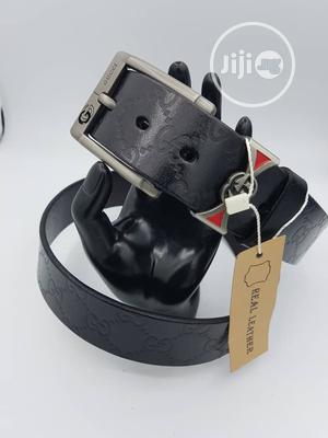 Gucci Men Leather Belt Available as Seen Order Yours Now | Clothing Accessories for sale in Lagos State, Lagos Island (Eko)