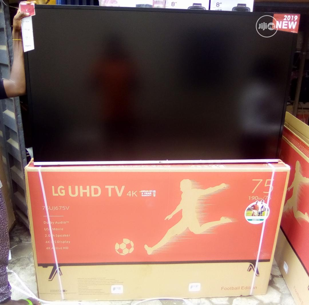 "Brand New Lg 75"" Smart Led 4K Tv With 2years Warranty And Safe Delivry"