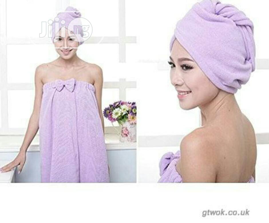 Wearable Towel With Cap | Home Accessories for sale in Lagos Island (Eko), Lagos State, Nigeria