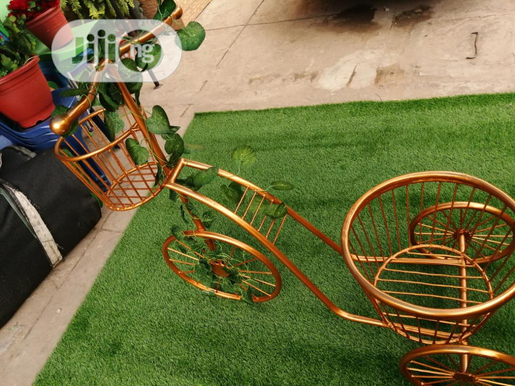 Gold Colour Three Wheels Tricycles And Flower Pots | Garden for sale in Ogbia, Bayelsa State, Nigeria